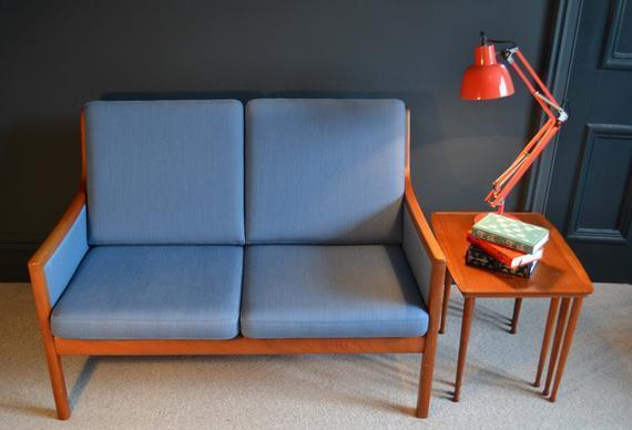 Rare Mid Century Compact 2 Seater Sofa By Ole Wanscher For P. Jeppesen photo 1