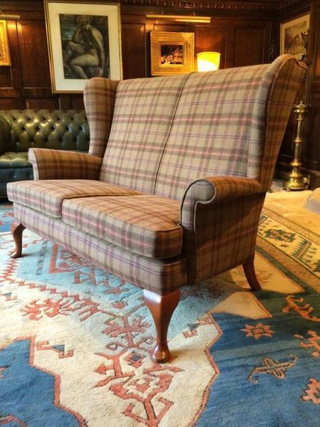 Antique Style S Rouse & Co Mahogany Wingback 2 Seater Sofa photo 1