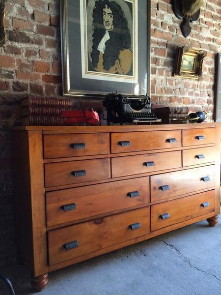 Antique Style Large His N Hers Chest Of Drawers