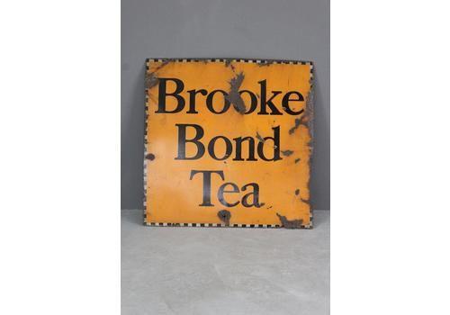 Large Vintage Kitchen Shop Advertising Brooke Bond Tea Enamel Sign