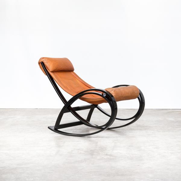 60s Gae Aulenti 'Sgarsul' Rocking Chair For Poltronova