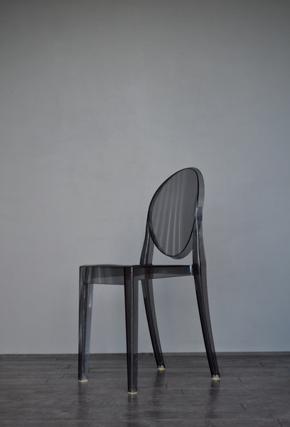 Original Smoked Victoria Ghost Chair By Philippe Starck For Kartell ...