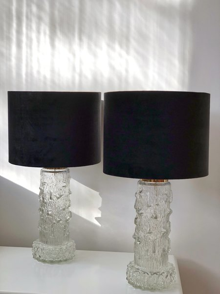 Stilarmatur Pair Of Table Lamps Clear Glass