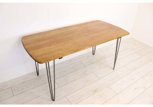 4348035a15e4 Vintage 1960's Ercol Blonde Plank Dining Table On 28