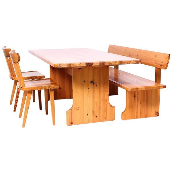 Midcentury Swedish Pine Dining Room Set By Karl Andersson Söner