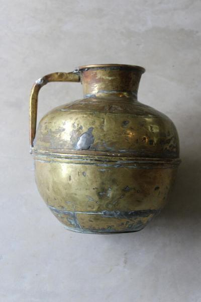 Large Rustic Eastern Brass Jug