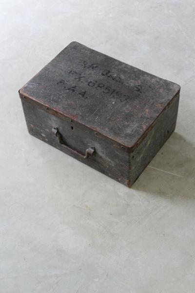 Vintage Wooden Ammunition Box
