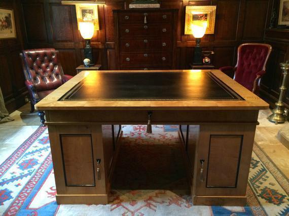 Antique Swedish Biedermeier Partners Desk 19th Century