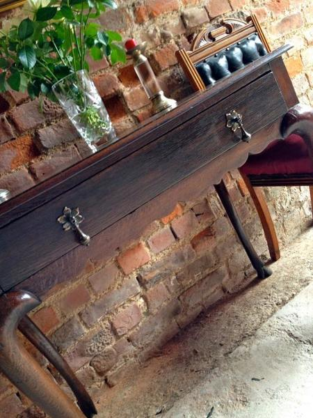 Antique Solid Oak Table, 19th Century, Shabby Chic, Hall Table