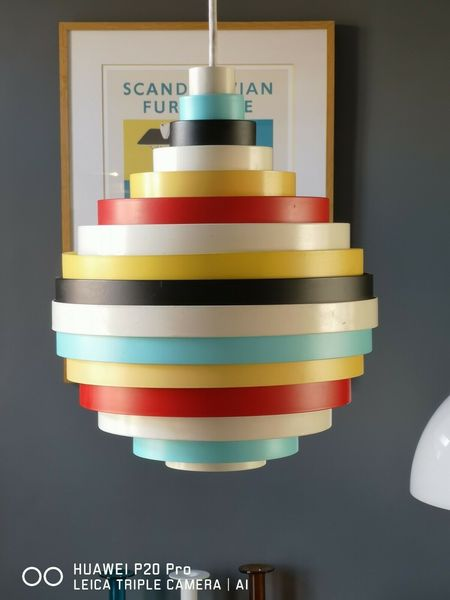 Retro Looking Scandinavian Funky Multi Coloured Ceiling Lights Pxl Zero Lighting