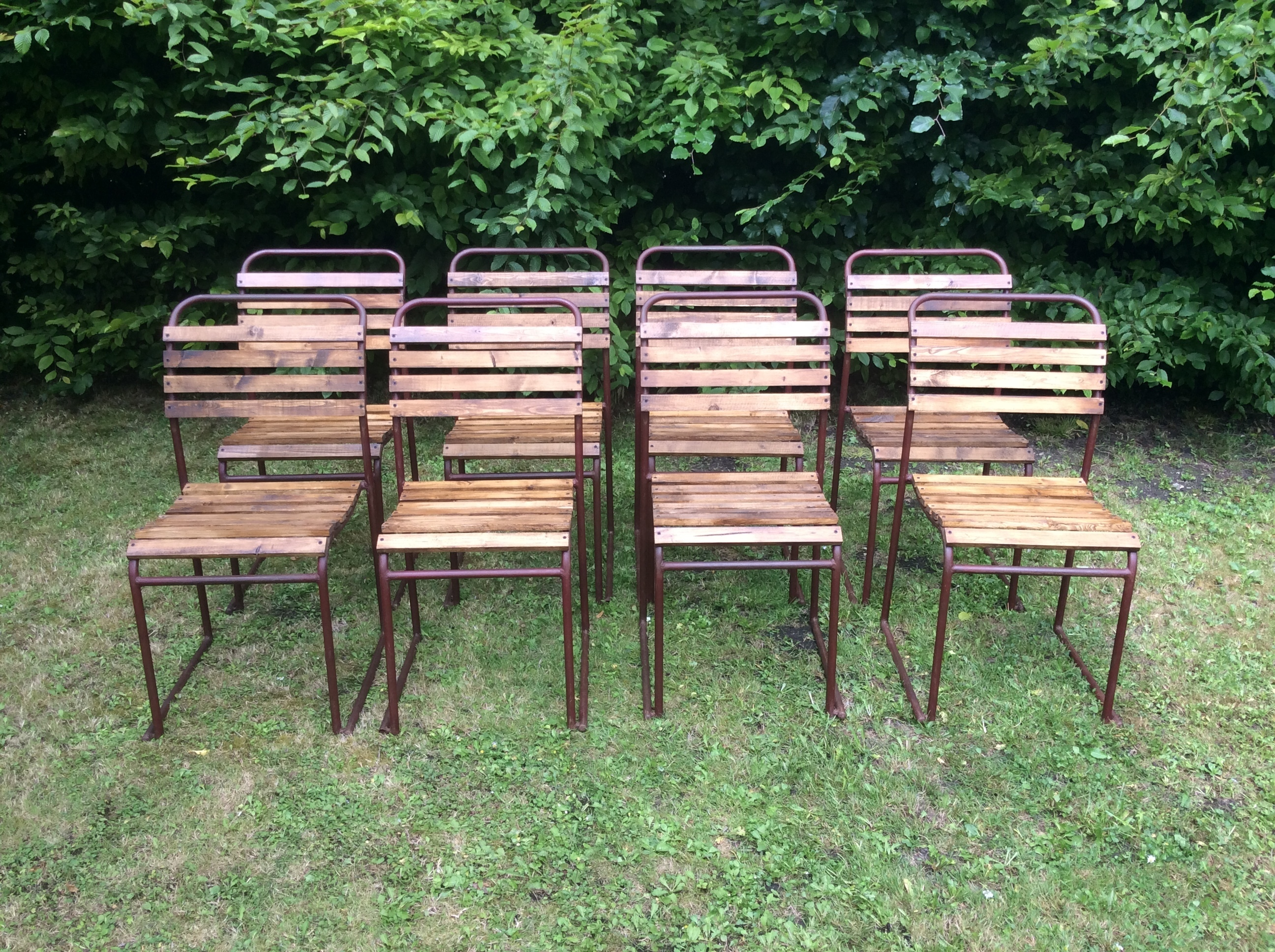 Vintage Mid Century Stacking Chairs Du Al Only Four Left