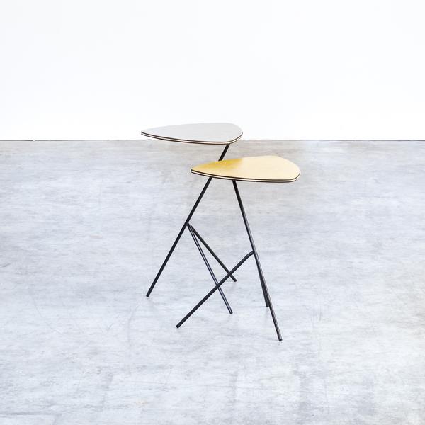 Terrific 40S Mathieu Mategot Side Tables Triangle For Artimeta Set 2 Home Interior And Landscaping Eliaenasavecom