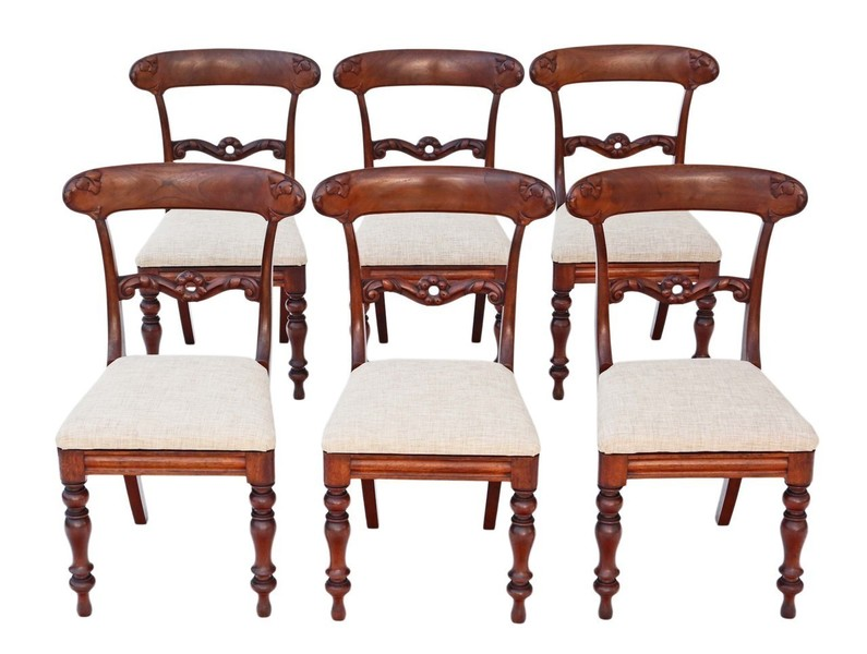 buy online fcfe6 245e4 Set Of 6 William Iv Mahogany Rosewood Dining Chairs