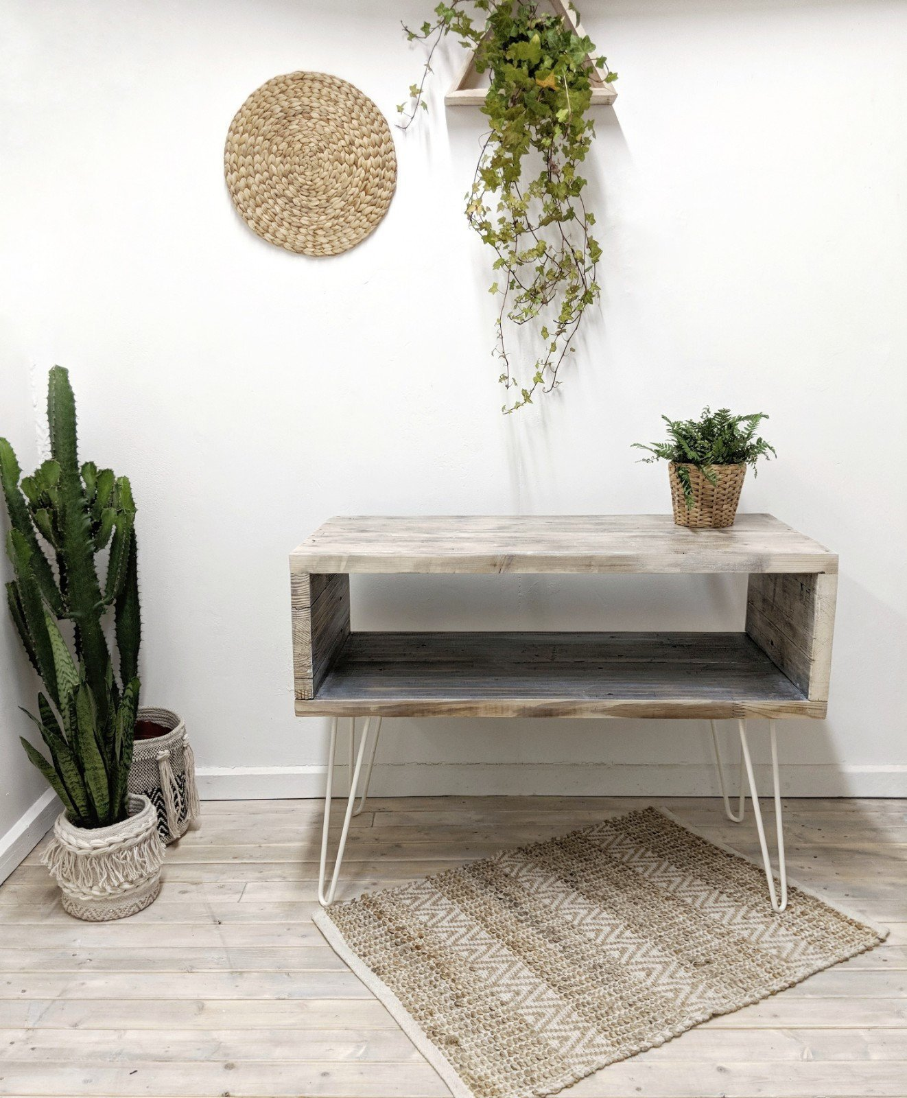 Reclaimed Wood Sideboard Ava In Driftwood Finish Rustic Storage Media Cabinet Table Boho Living Room Characterful Wood Rustic Design