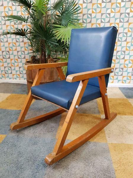 Peachy Vintage 1950S Small Childs Rocking Chair Mid Century Retro Beatyapartments Chair Design Images Beatyapartmentscom