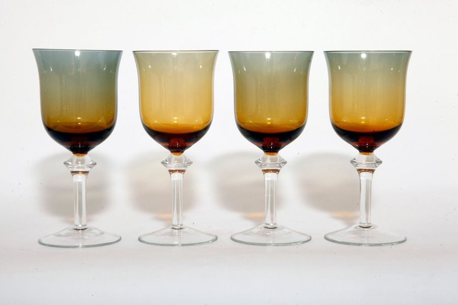 Glasses By Wszewłod Sarnecki For Krosno Glassworks, 1960s, Set Of 4