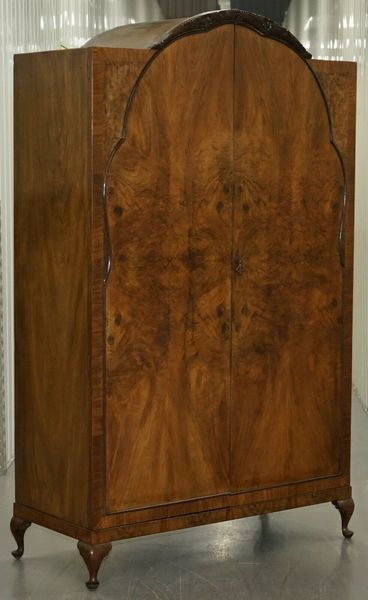 Art Deco Walnut Double Wardrobe Part Of Suite Stamped Guaranteed British Made