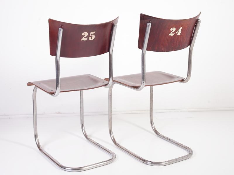 Mart Stam Design.Cantilever Tubular Chrome Chairs By Kovona Mart Stam Design Set Of 2 1940s