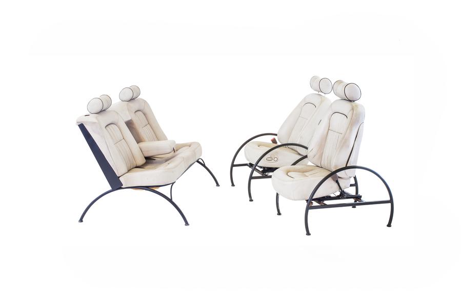 Vintage 1990s Jaguar Car Seat Lounge Chairs