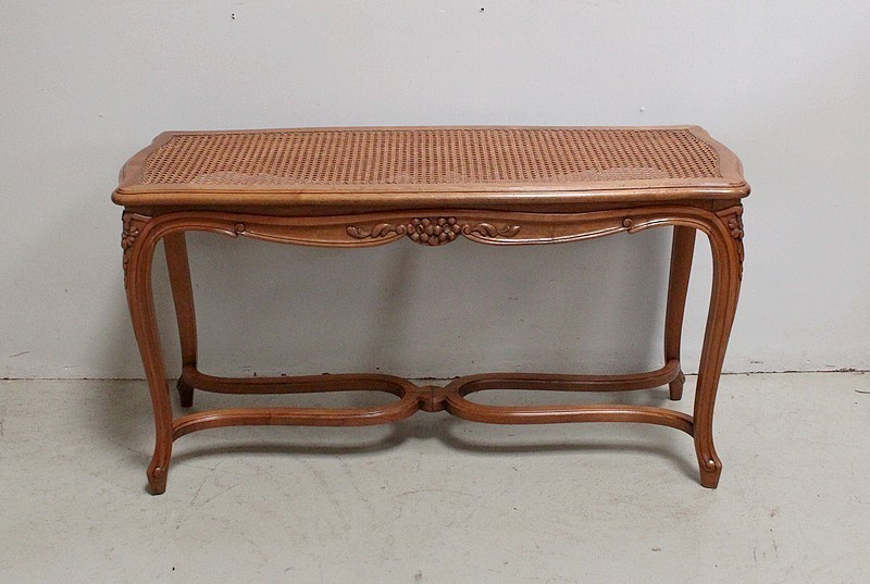 Excellent Piano Bench Cane Solid Walnut Regency Style 1920S Gmtry Best Dining Table And Chair Ideas Images Gmtryco