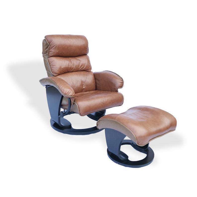 Vintage Mid Century 70 S Leather Adjustable Easy Chair And Footstool Vinterior