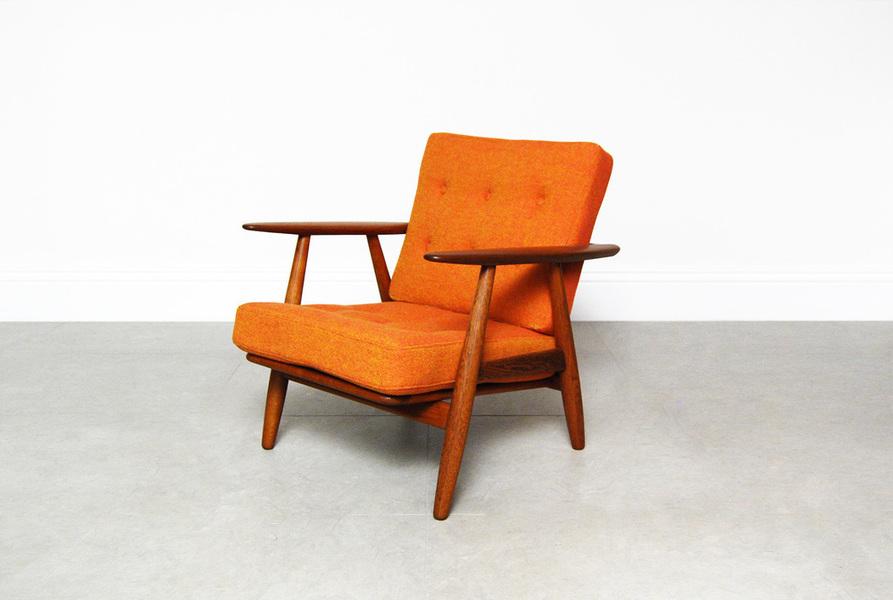 Hans Wegner For Getama Orange Ge 240 Cigar Chair