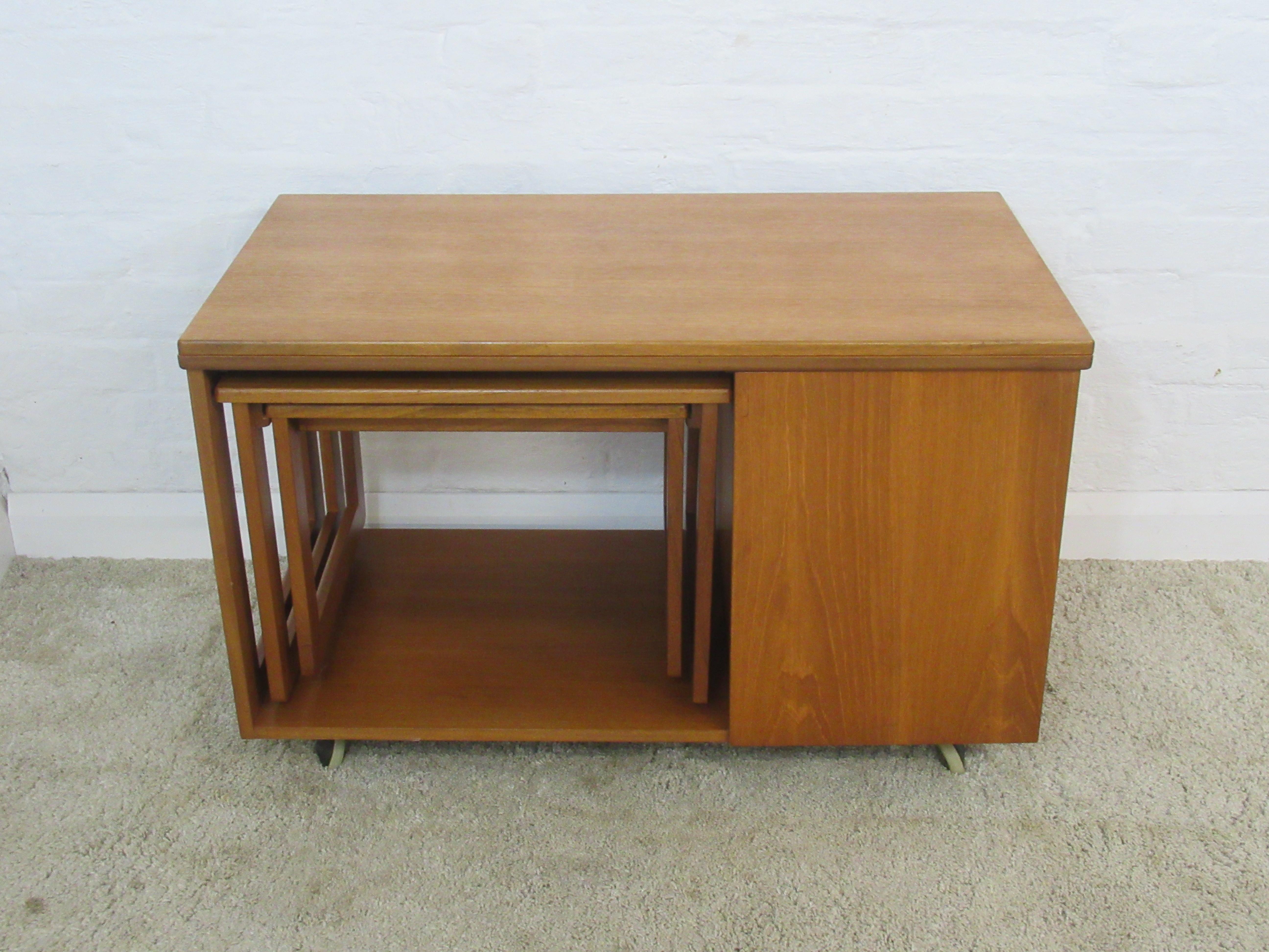 Coffee Table Extendable.Retro 1960s 70s Mc Intosh Tristor Teak Extending Coffee Table With Nest Storage