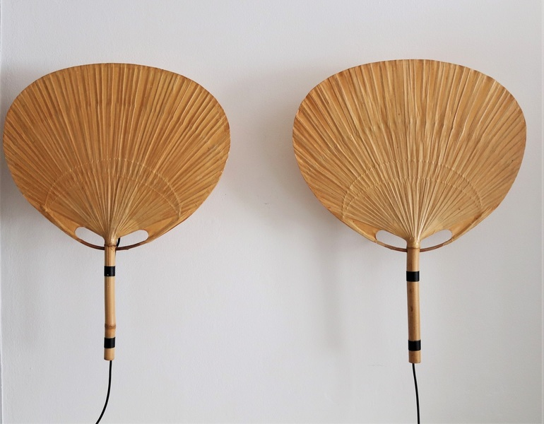 Pair Of Uchiwa Wall Sconces By Ingo Maurer, Germany, 1973