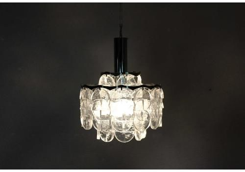 Beautiful Kalmar Frosted Lucite Chandelier Made In Austria