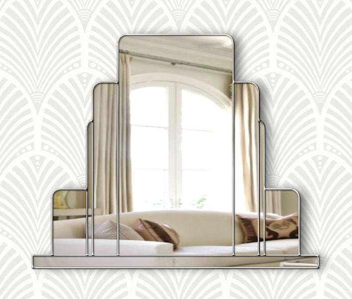 Large Art Deco Wall Mirror Mycoffeepot Org