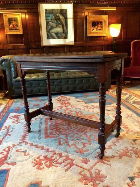 Antique Victorian Walnut Rectangular Side Table