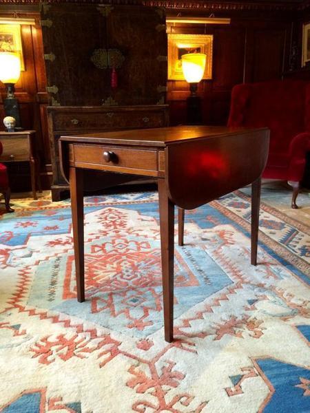Antique Mahogany Pembroke Table Victorian 19th Century