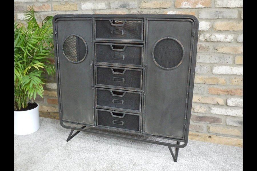 Industrial Metal Storage Cabinet Sideboard Storage Unit Metal Cabinet On Wheefrontels Mesh D Drawers Steel Grey Colour