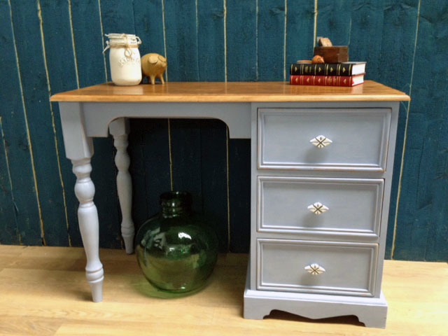 Small Pine Painted Desk