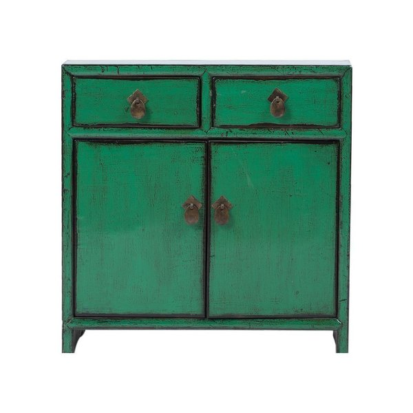 Vintage Chinese 2 Drawer 2 Door Cabinet photo 1