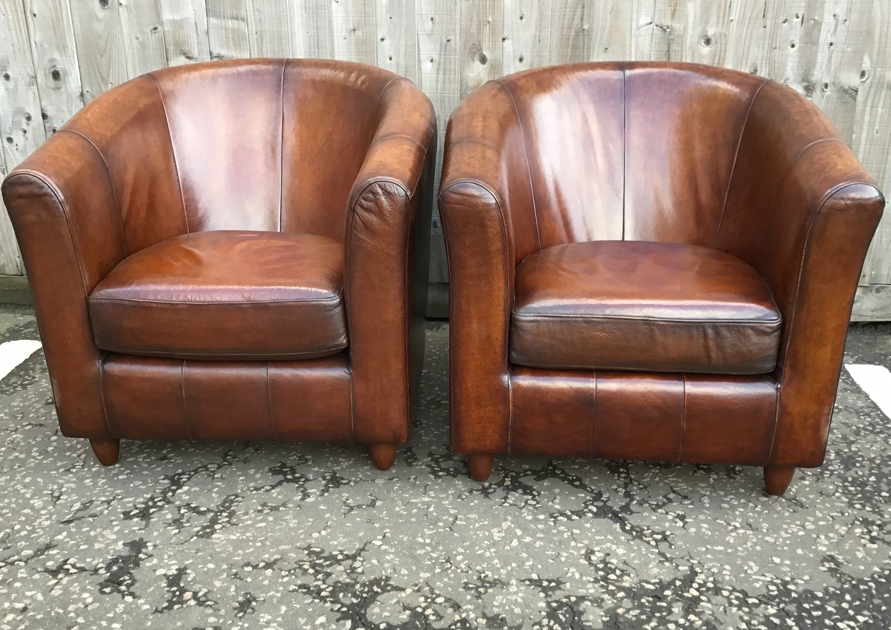 Leather Tub Chairs Vinterior