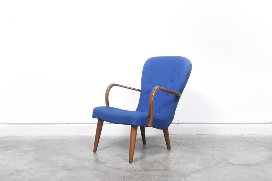 1940s Easy Armchair Royal Blue