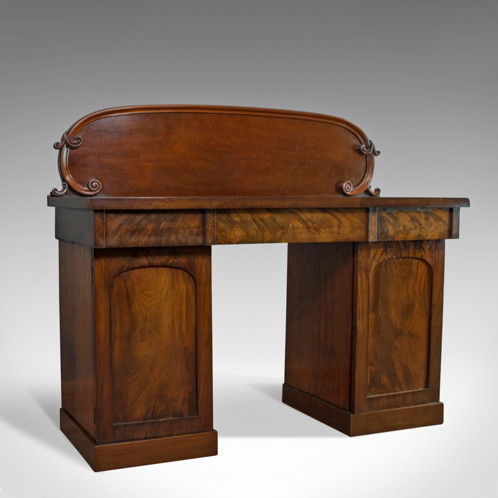Antique Pedestal Sideboard English Mahogany Dresser Victorian Circa 1850 Vinterior