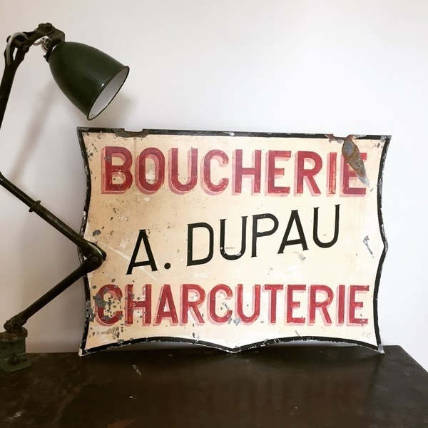 Original French Butchers Sign