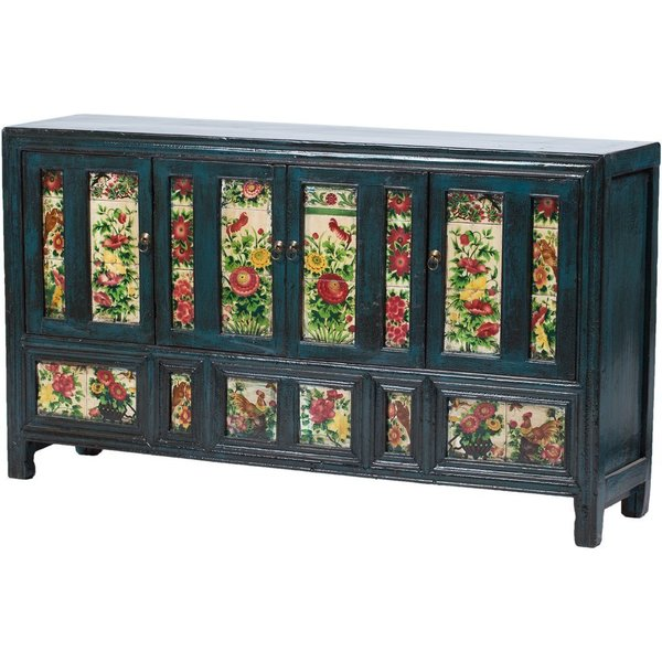 Vintage Chinese Tiled Cabinet From Dongbei photo 1