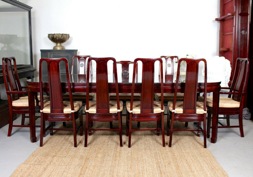Vintage Chinese Rosewood Dining Table