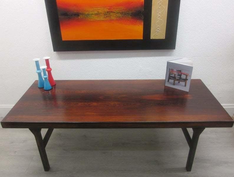 Danish Palisander Rosewood Coffee Table Vinterior