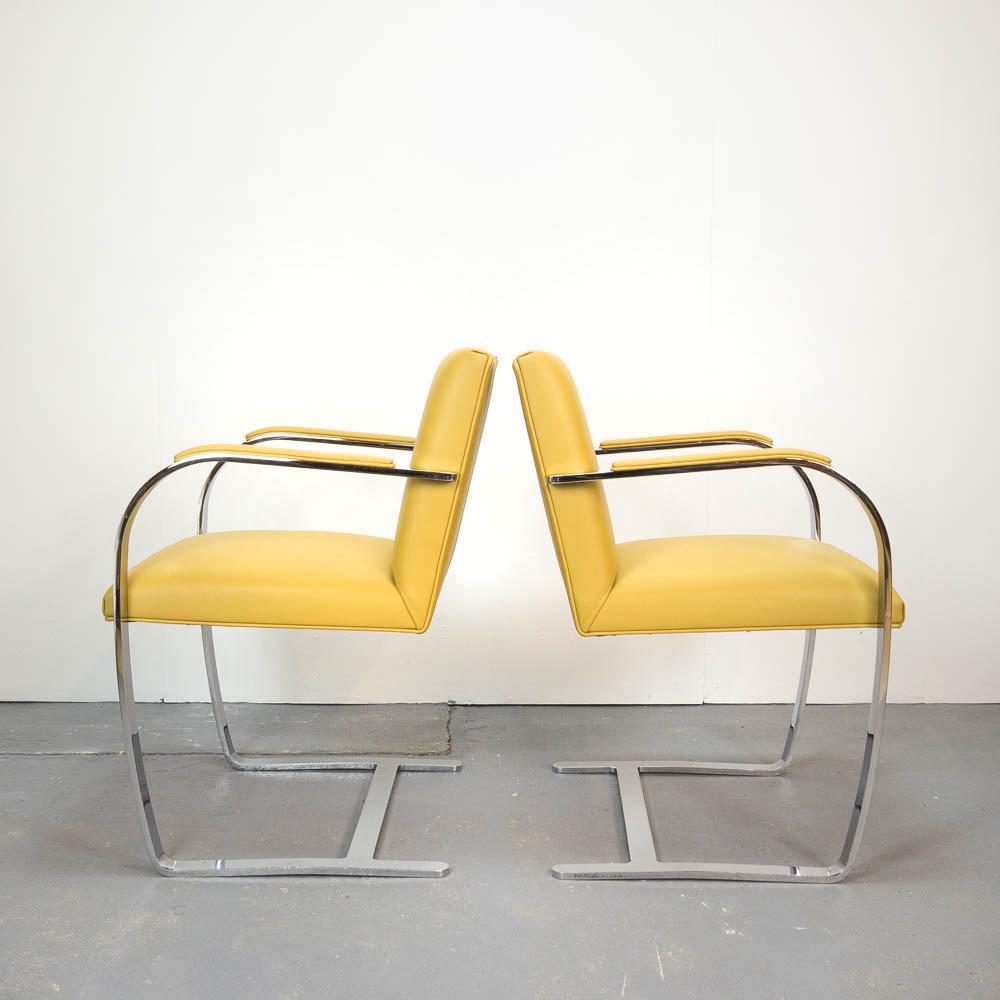 Chaise Brno Mies Van Der Rohe pair of brno chairsmies van der rohe for knoll studio