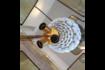 Large Ceramic Artichoke Lamp photo for sale