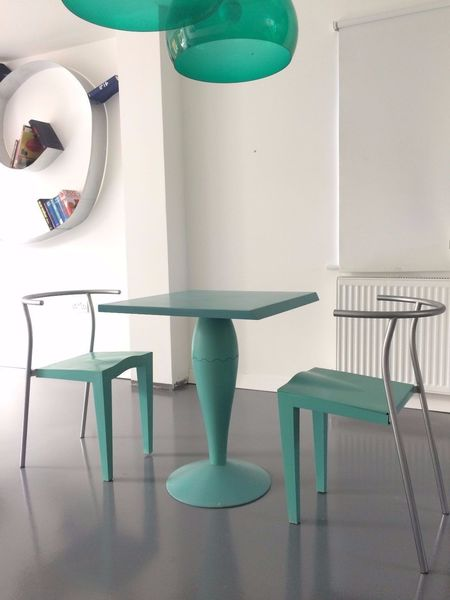 Vintage Retro Design Miss Balu Table + 3 Dr Glob Chairs By Stark For Kartell