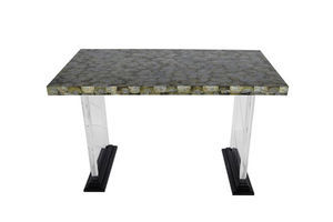 Thumb abalone and lucite writing desk 0
