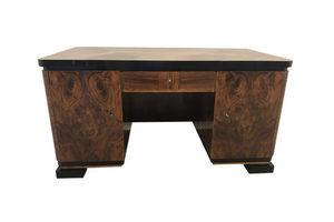 Thumb art deco burl wood jacquemin desk from france 1920s 0