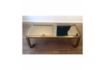 Vintage Brass Coffee Table 1970s photo for sale