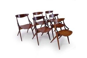 Thumb dining chairs by arne hovmand olsen for mogens kold set of 6 0