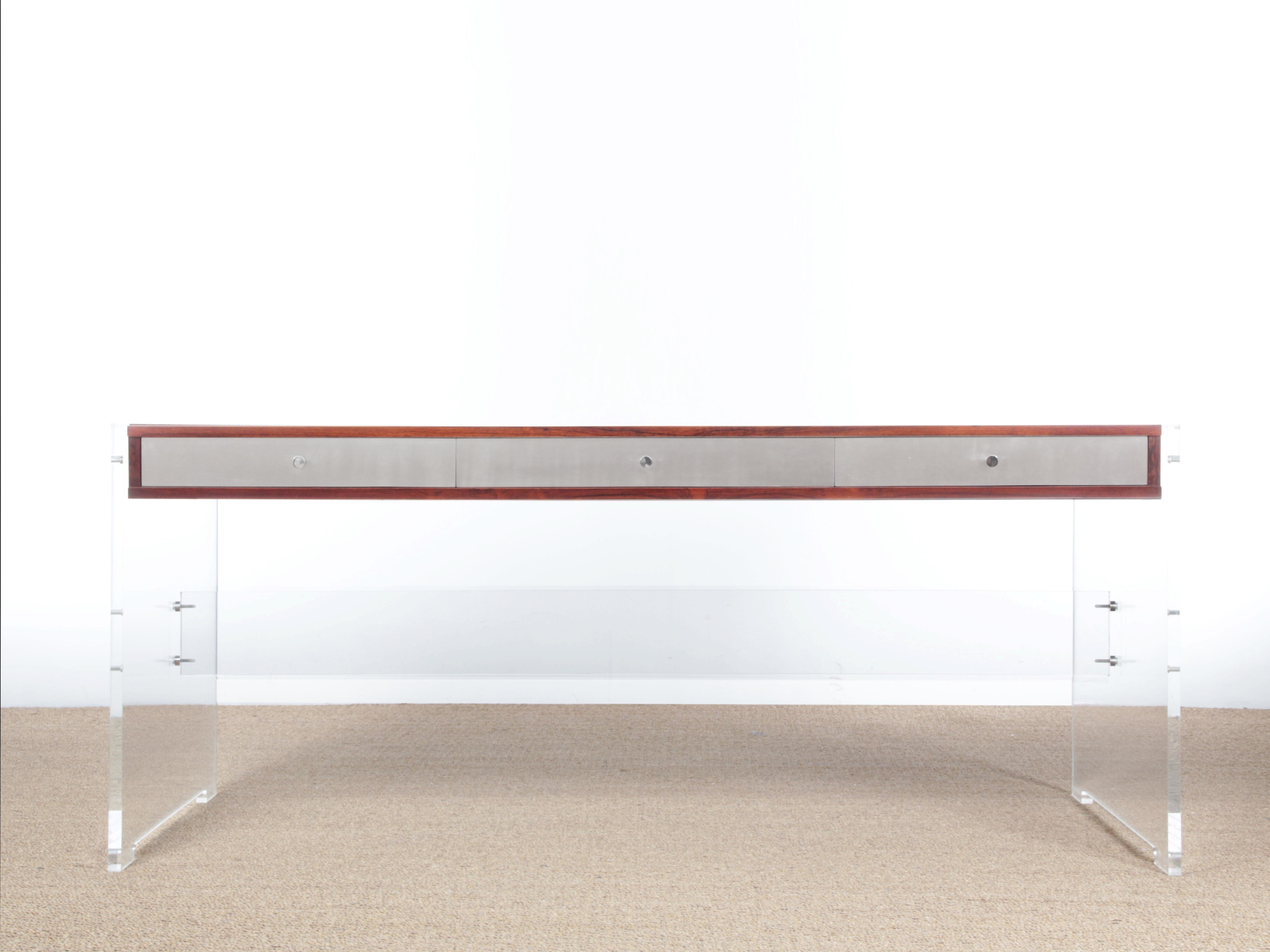 Mid Century Modern Scandinavian Standing Desk In Rio Rosewood By Poul Norreklit Poul Norreklit Vinterior